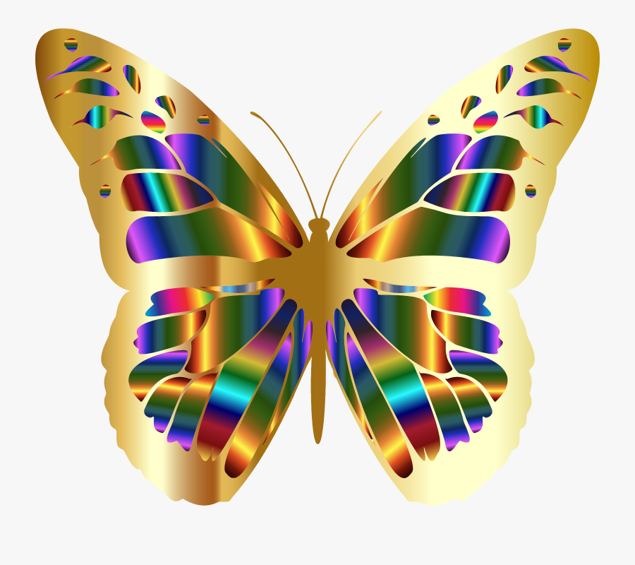 Iridescent Monarch Butterfly 11 Clip Arts - Monarch Butterfly, Transparent Clipart