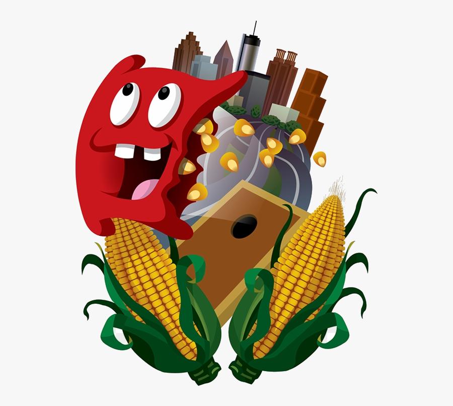 Corn Hole Logo Cartoon, Transparent Clipart