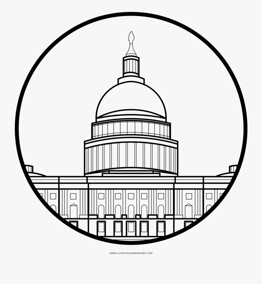 Washington Dc Coloring Page - Line Art, Transparent Clipart