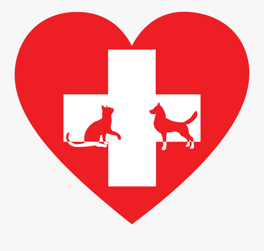 Free Clipart Of A Silhouetted Cat And Dog With A Red - Animal Clinic Clip Art, Transparent Clipart