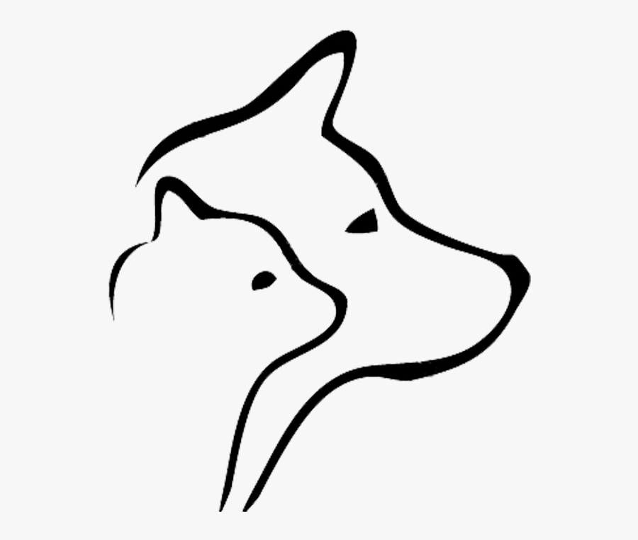 Mountain Tails Animal Rescue Vector Black And White - Cat And Dog Vector Free, Transparent Clipart