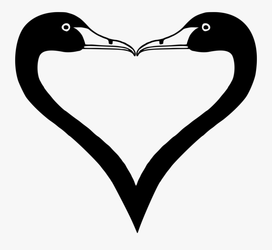Heart,love,neck - Duck Drawing Heart, Transparent Clipart