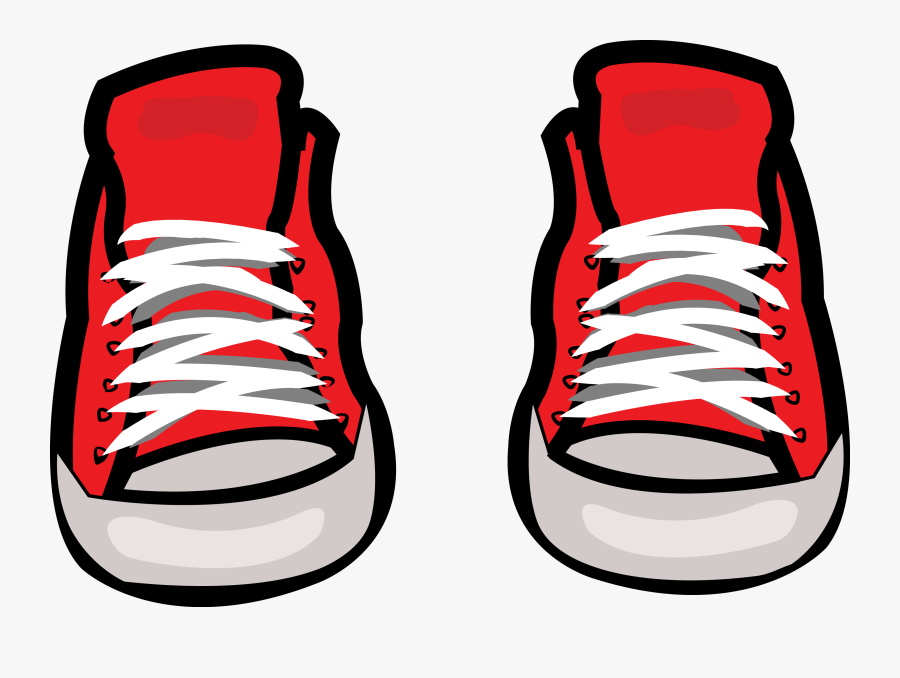 Shoe Sneakers All Stars - Red Converse Clip Art, Transparent Clipart