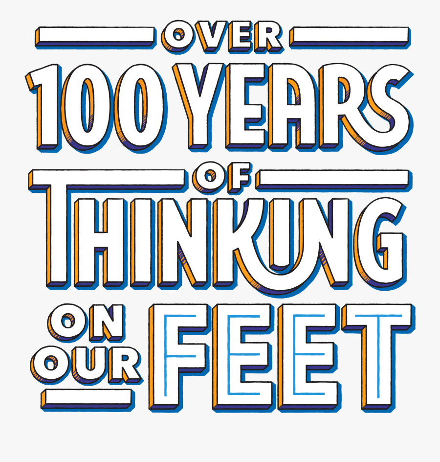 Over One-hundred Years Of Thinking On Our Feet, Transparent Clipart