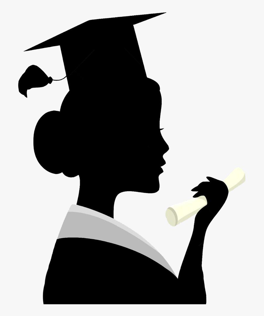 Transparent Graduation Silhouette Png - Clip Art ...