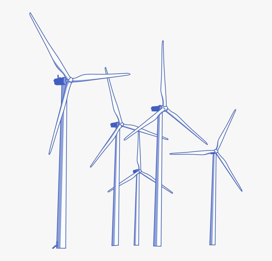 Wind Turbine Clip Art - Wind Turbines Clipart Png, Transparent Clipart