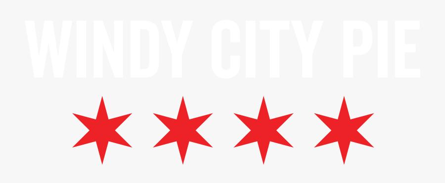 Windy City Pie Logo - Chicago Flag No Background, Transparent Clipart