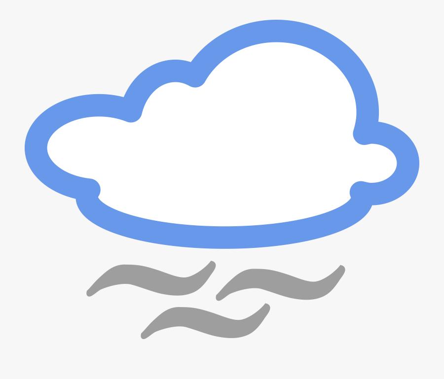 Weather Forecast Symbols Windy - Foggy Weather Symbol, Transparent Clipart