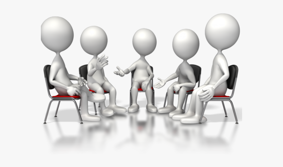 Negotiation Clipart Team Discussion - Group Therapy Clip Art, Transparent Clipart