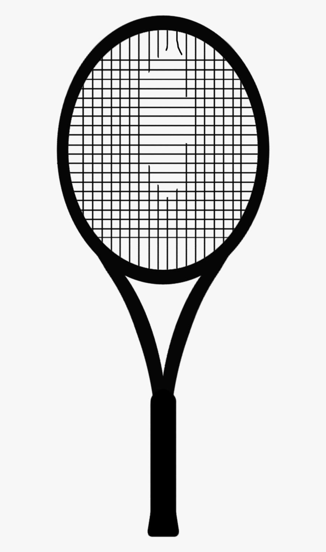 Sports Express Tennis Shop - Tennis Racket Black Strings, Transparent Clipart