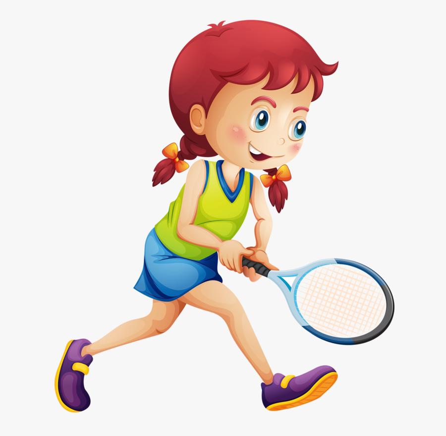 Tennis Girl Racket Illustration - Tennis Girl Clip Art, Transparent Clipart