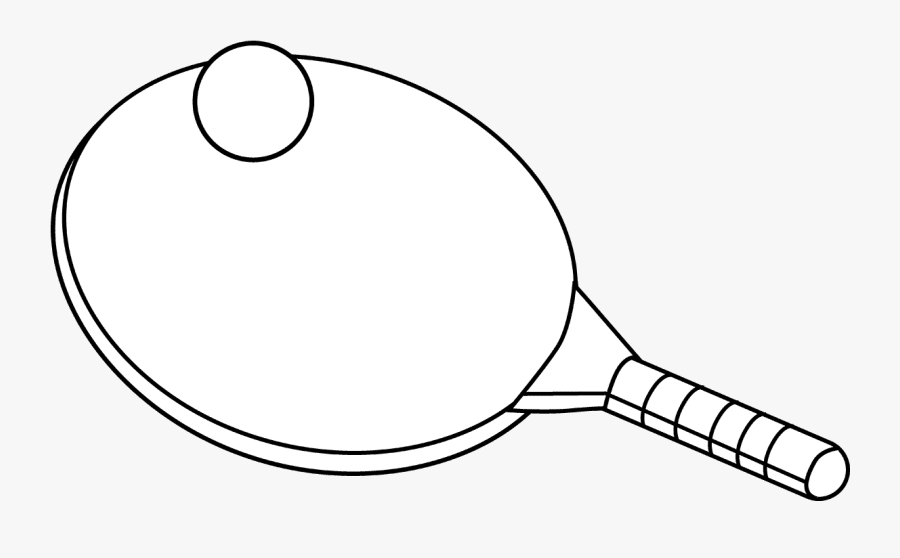 Ping Pong Clip Art Black And White - Table Tennis Clipart Black And White, Transparent Clipart