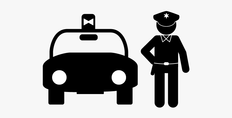 Patrol Car - Police Officer Pictogram, Transparent Clipart