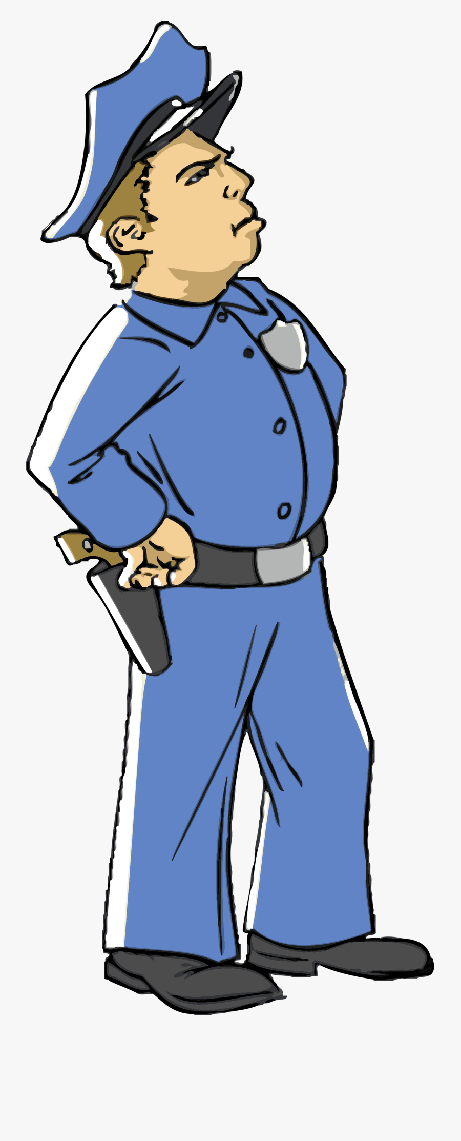 Transparent Knocking On Door Clipart - Police Officer Clip Art, Transparent Clipart