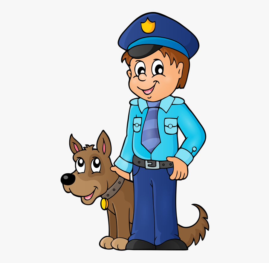 Personnages, Illustration, Individu, Personne, Gens - Police Officer With Dog Clipart, Transparent Clipart