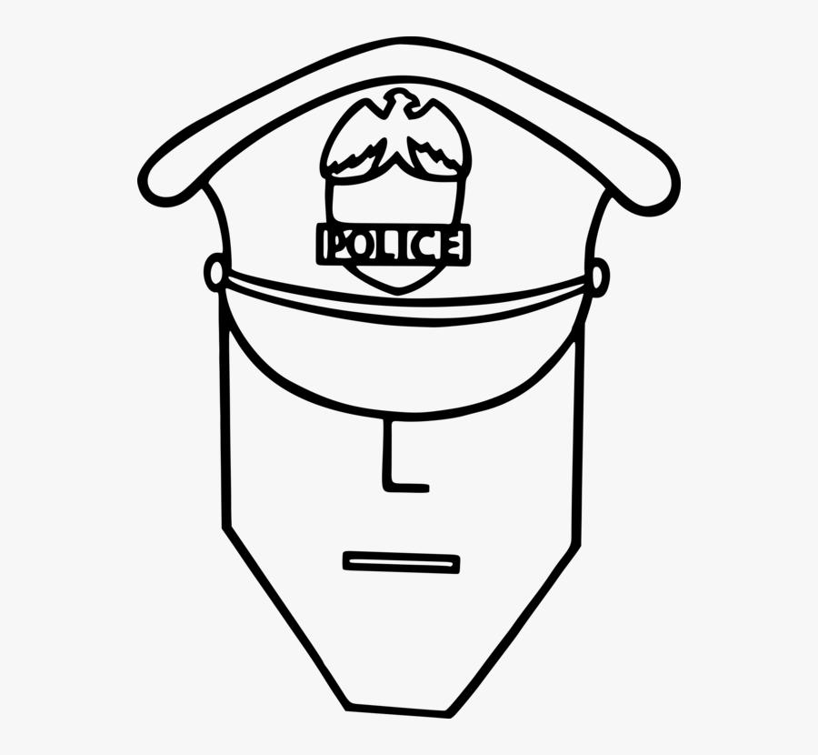 Line Art Head Angle Sketsa Gambar Pentungan Polisi Free