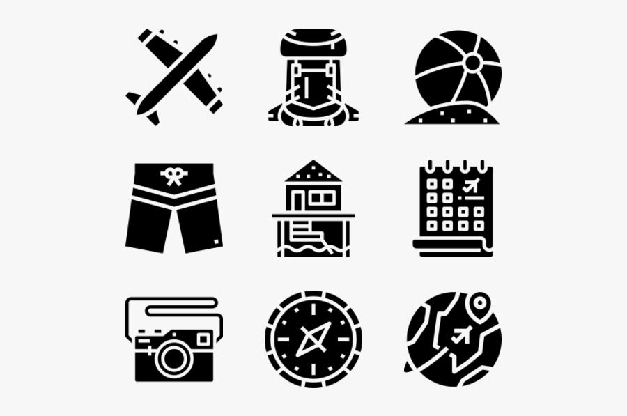 Summer Icons, Transparent Clipart