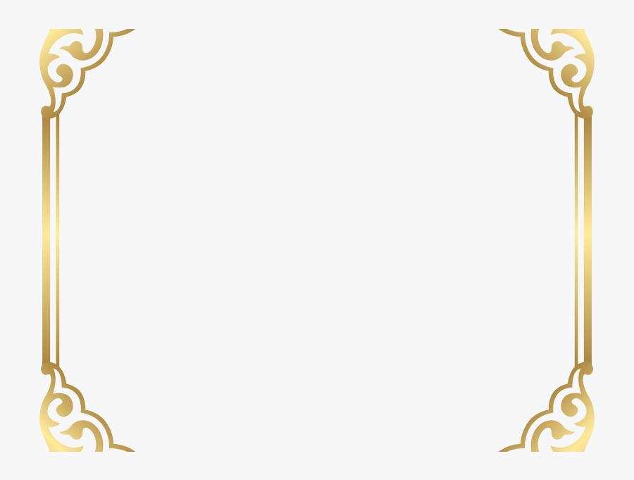 Download Fancy Border Clip Art - Gold Frame Border Png, Transparent Clipart