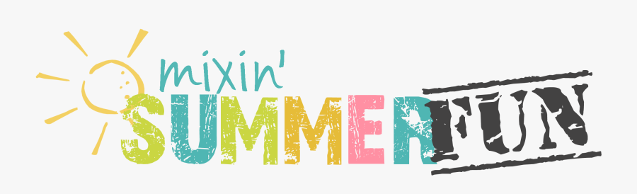 In The Mix - Summer Fun Banner Clipart, Transparent Clipart