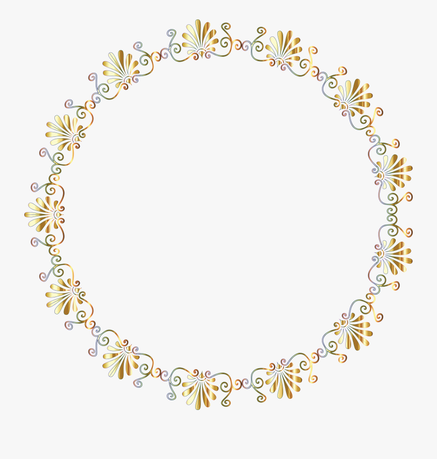 Free Clipart Of A Fancy Greek Vignette Design Frame - Circle Frame No Background, Transparent Clipart