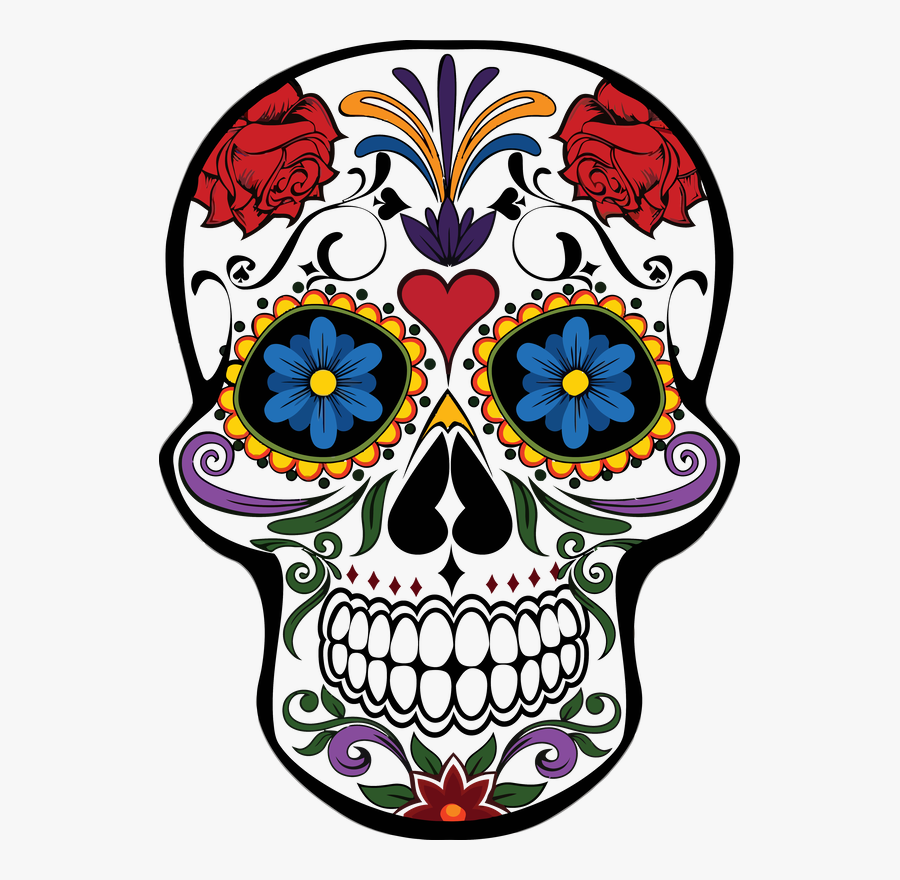Day Of The Dead Skulls Png - Day Of The Dead Skull, Transparent Clipart