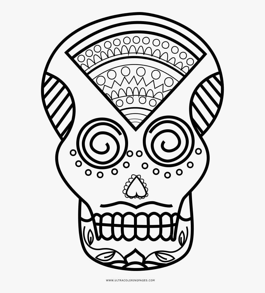Sugar Skull Coloring Page Sugar Skull Coco Coloring Pages Free Transparent Clipart Clipartkey
