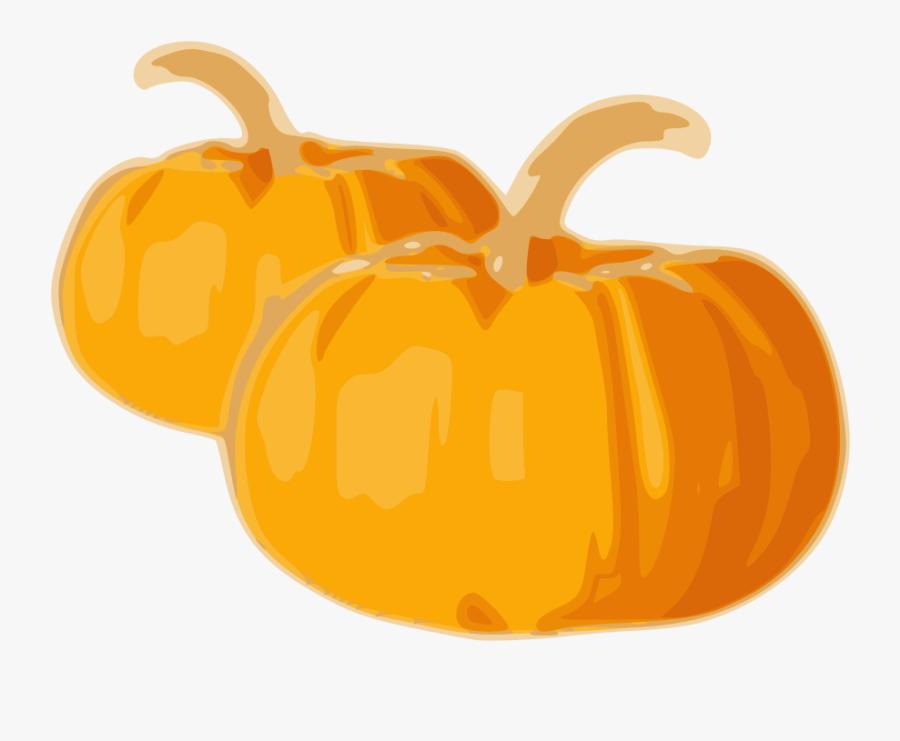 Pumpkin - Drawing Of Two Pumpkins, Transparent Clipart