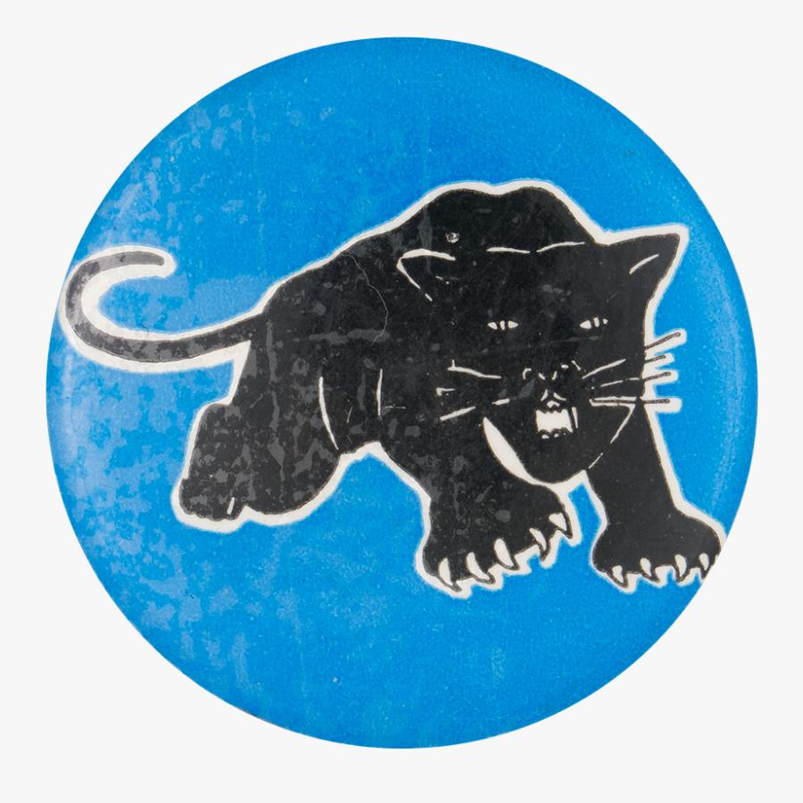 Black Panther Cause Button Museum - Black Cat, Transparent Clipart