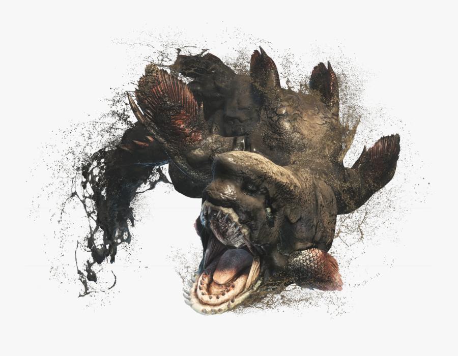 Clip Art Fertile Mud - Monster Hunter World Jyuratodus, Transparent Clipart