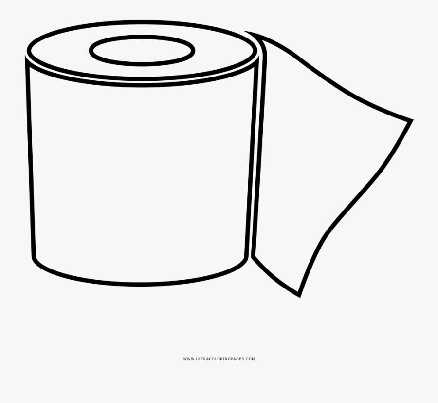 Toilet Paper Coloring Page - Papel Higienico Para Colorir, Transparent Clipart