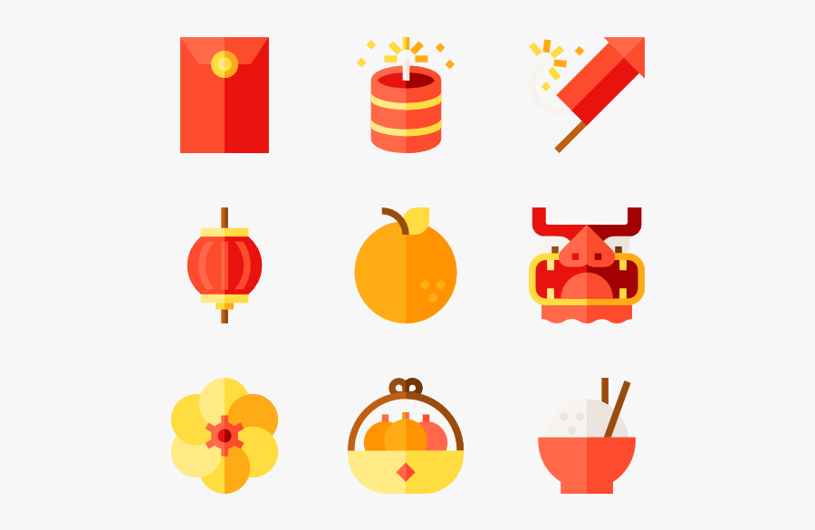 Chinese New Year - Chinese New Year Icon, Transparent Clipart