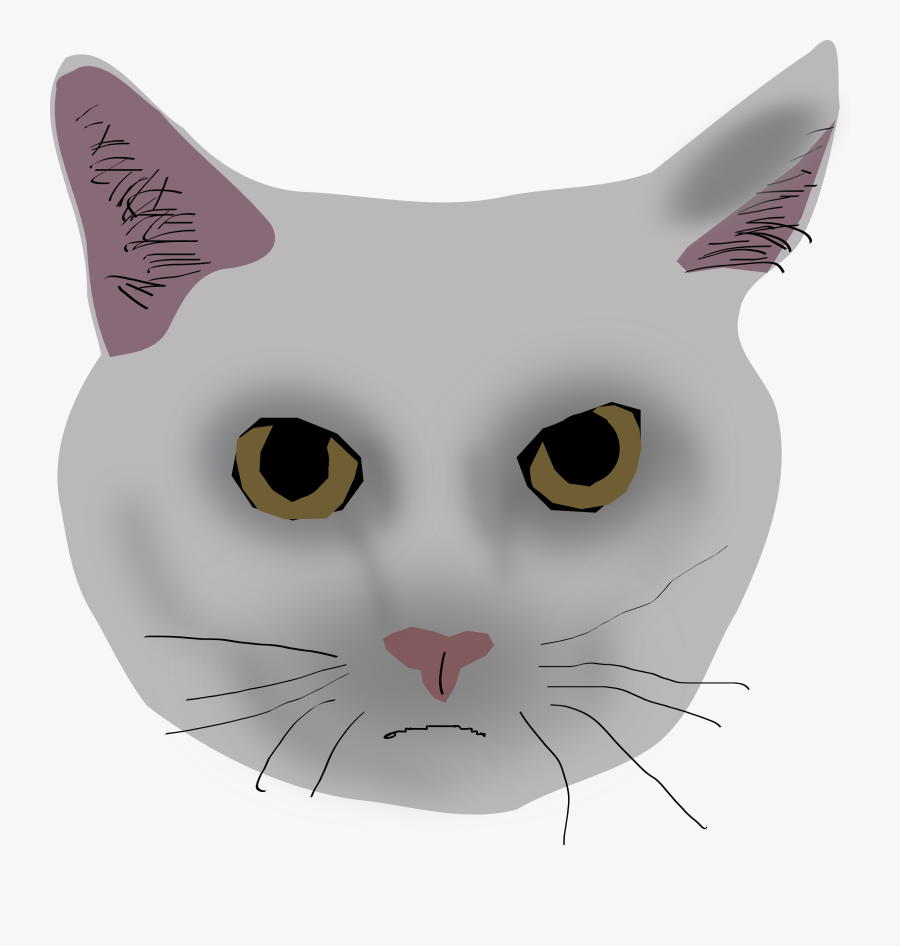 Cat Head Jpg Free - Cat, Transparent Clipart