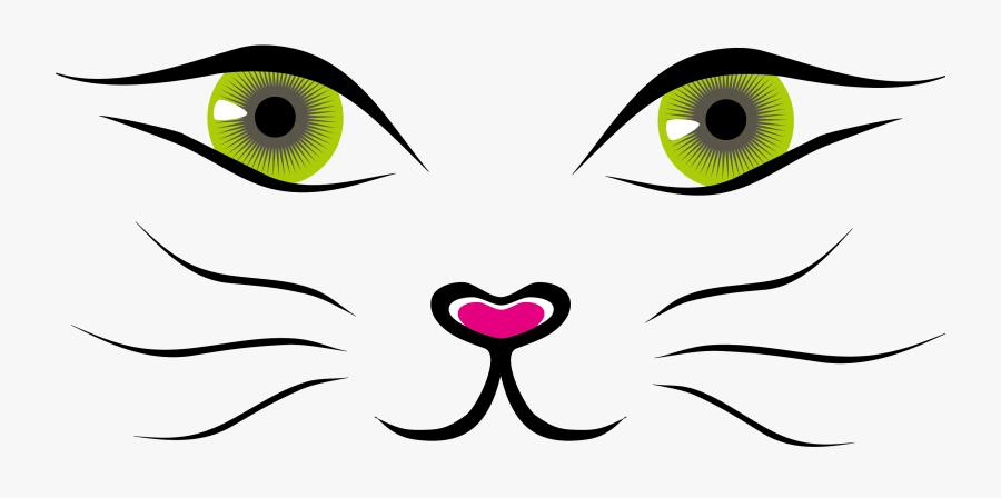 Transparent Cat Face Clipart - Cat Face Drawing, Transparent Clipart