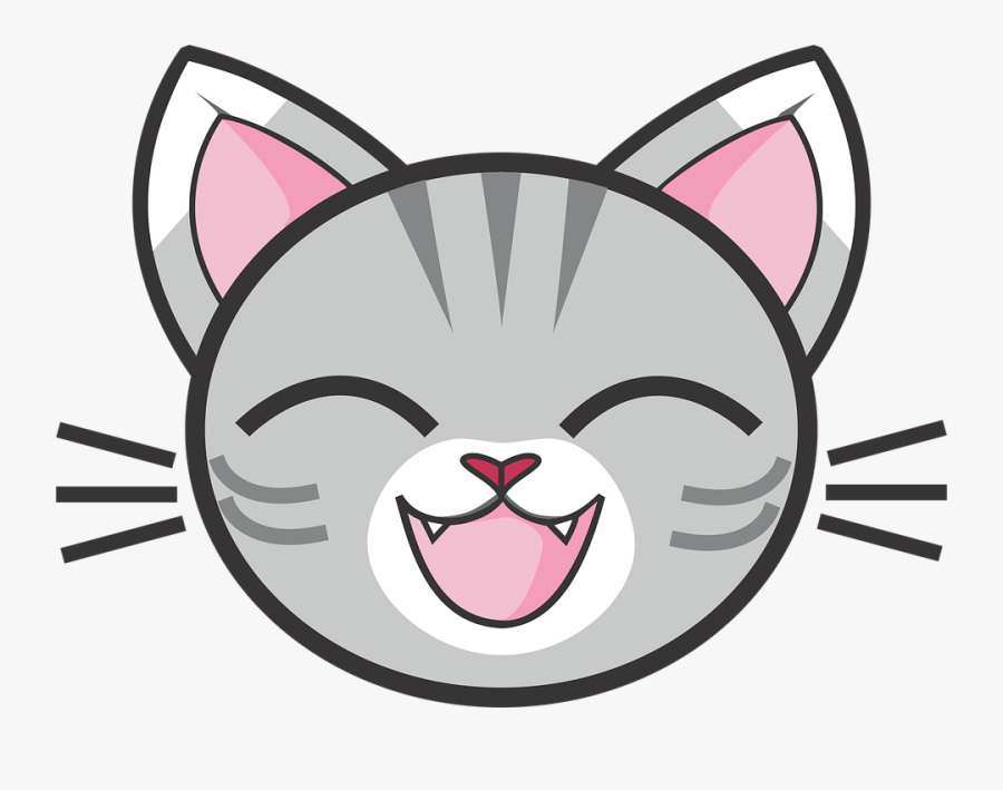 Collection Of Leopard Face Cliparts - Cartoon Cat Head Png, Transparent Clipart