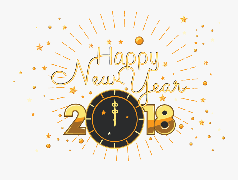 "Chinese New Year Steemit New Year""s Eve - New Year Clock 2018 Png, Transparent Clipart"