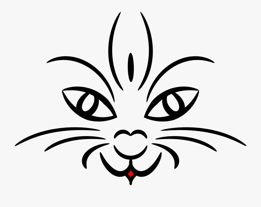 Cat Face Clip Arts - Cat Face Clip Art Black And White, Transparent Clipart