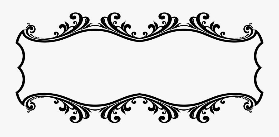 Frames Illustrations Hd Images - Border Design Black And White, Transparent Clipart