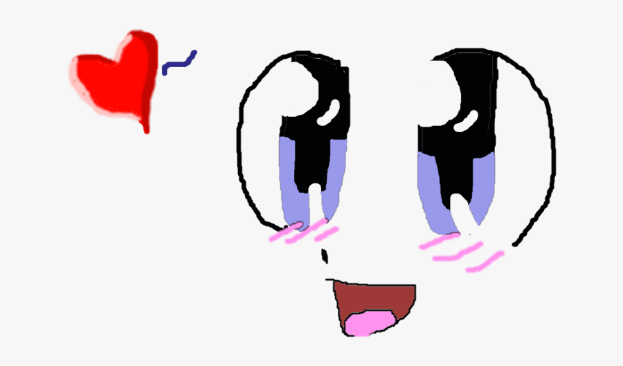 Anime Cat Pics - Happy Anime Face Png, Transparent Clipart