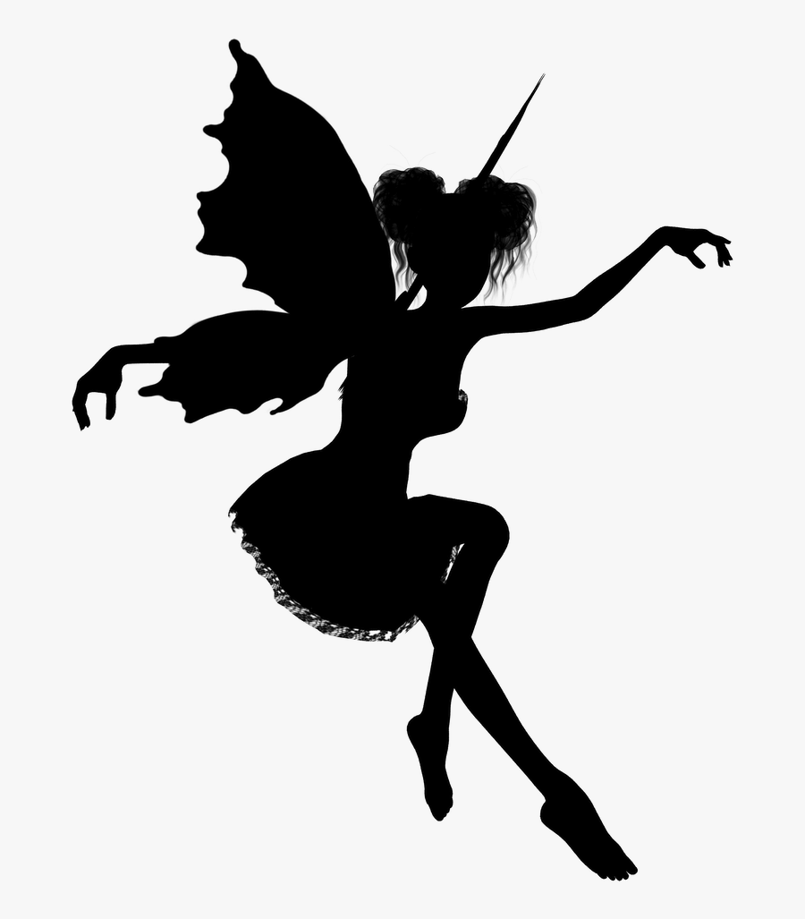 Tinker Bell Peter Pan Tooth Fairy Silhouette Fairy Stickers For Walls Free Transparent Clipart Clipartkey