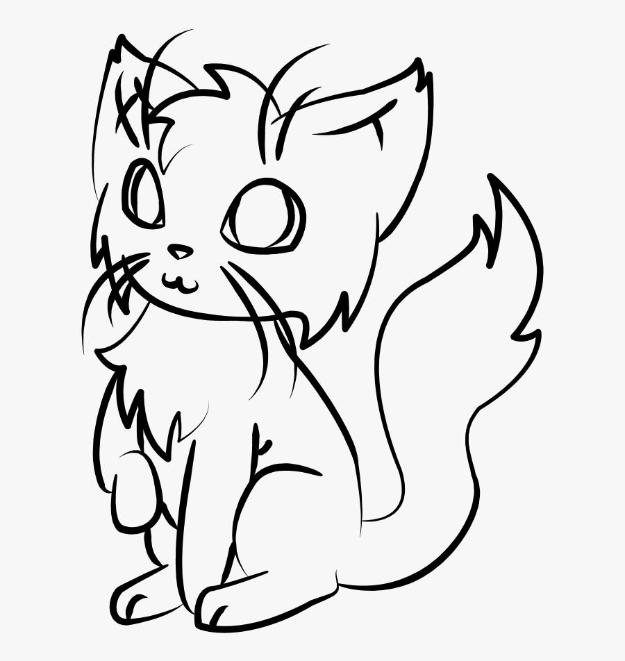 Kitten Clipart Simple Cat - Simple Cat, Transparent Clipart