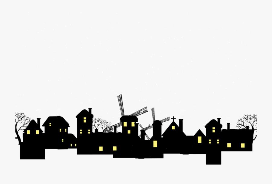 Silhouette House Building - 房屋 剪影, Transparent Clipart