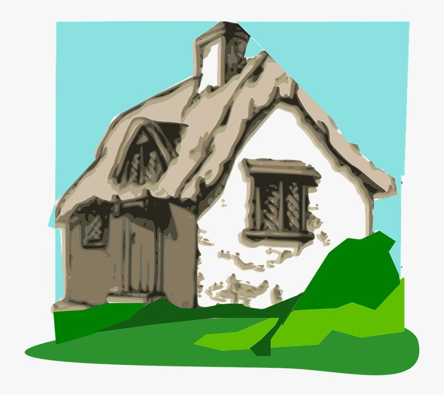 Cottage Hut Home - Three Little Pigs Meme, Transparent Clipart