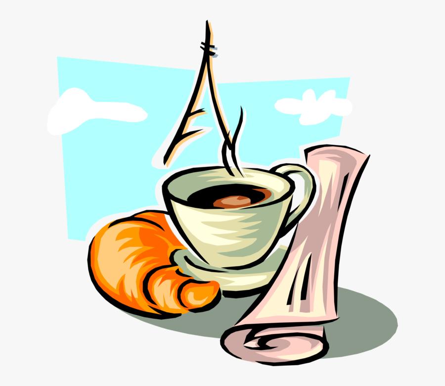 Morning Coffee With Croissant - Кофе С Круассаном Вектор, Transparent Clipart
