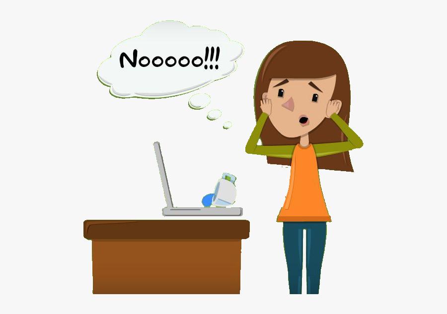 Transparent Spill Png - Spill Laptop Cartoon, Transparent Clipart
