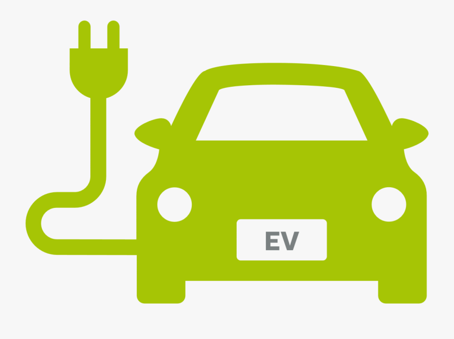 Electric Vehicle, Car, Charging Station, Green, Yellow - Electric Vehicle Charging Icon, Transparent Clipart
