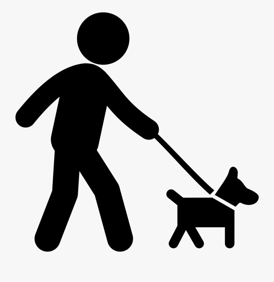Pet Sitting Dog Walking Cat - Stick Figure Walking Dog, Transparent Clipart