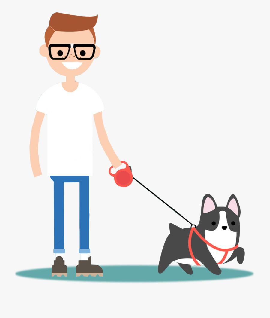 Walking Dog Cartoon Png , Png Download - Walk The Dog Png, Transparent Clipart