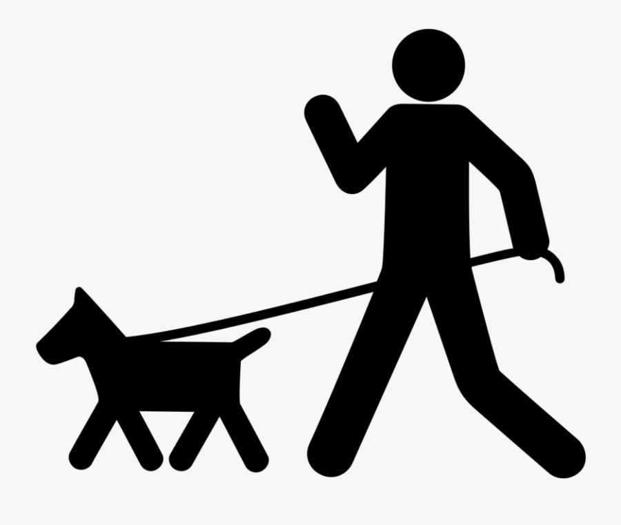 Pet Sitting Dog Walking German Shepherd Dobermann Dog - Dog Walking Clipart Black And White Free, Transparent Clipart