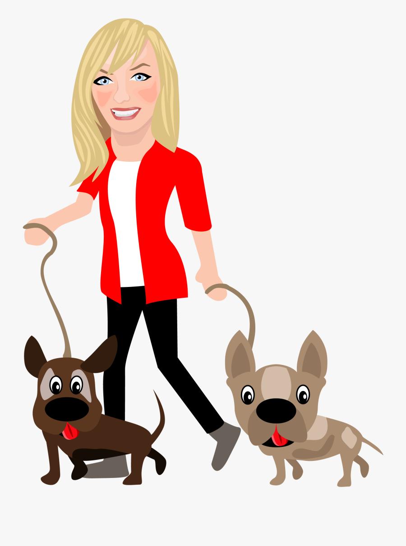 Edinburgh Dog Walker - Dog Walker Cartoon, Transparent Clipart