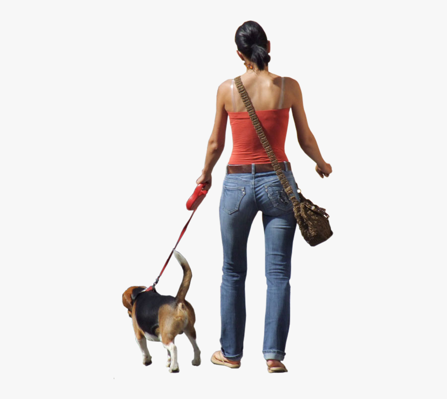 Dog-walking - Photoshop People With Dog, Transparent Clipart